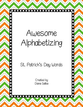 ABC Order- St. Patrick's Day Words