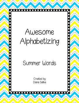 ABC Order- Summer Words