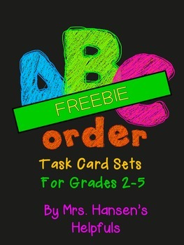 ABC Order Task Cards - FREEBIE