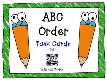 ABC Order Task Cards with QR Codes Bundle