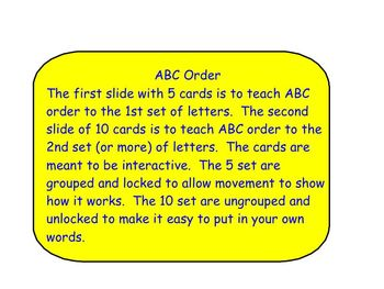 ABC Order Template