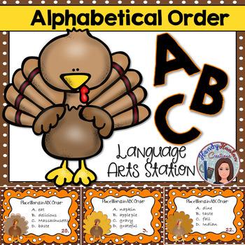 ABC Order Thanksgiving