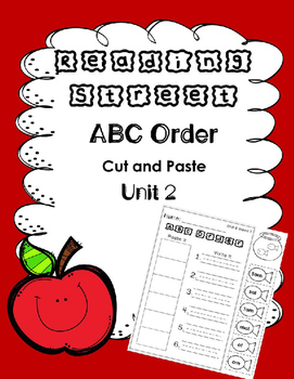 ABC Order. Unit 2. Reading Street. First Grade. Cut and Paste