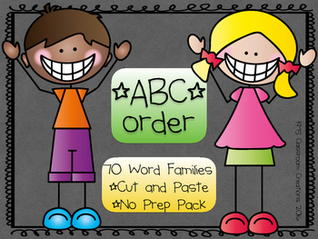 ABC Order & Word Family Practice