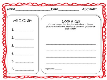ABC Order and Dictionary Center