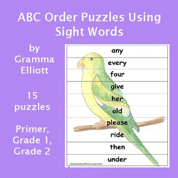 ABC Order and Sight Word Practice Puzzles