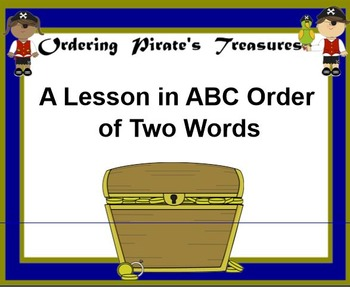 ABC Order of 2 Words Ordering Pirates Treasure
