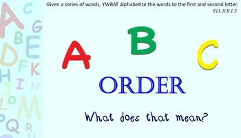 ABC Order-putting words in order to the first and/or secon