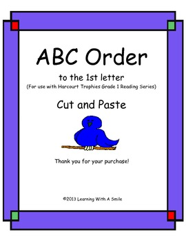 Harcourt Trophies First Grade ABC Order (to the 1st letter