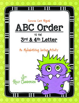 ABC Order to the 3rd & 4th Letter, (an alphabetizing sorti