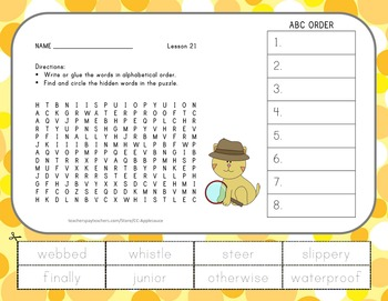 Journeys 2nd Grade Unit 5 Vocabulary - ABC Order with Word