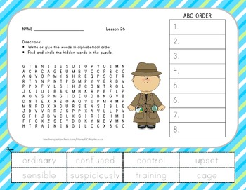 Journeys 2nd Grade Unit 6 Vocabulary - ABC Order with Word
