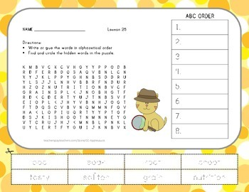 ABC Order and Word Search - From Seed to Plant - 2nd Grade