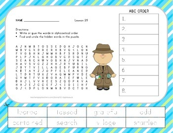 ABC Order and Word Search - Two of Everything - 2nd Grade