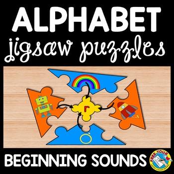 ALPHABET PUZZLES: PHONICS LETTER SOUNDS: BEGINNING SOUNDS PUZZLES