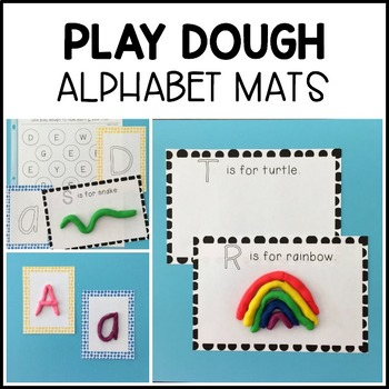 ABC PLAY DOUGH MATS {It's time to learn letters!}
