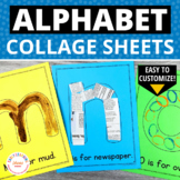Alphabet Collage Sheets: Editable ABC Activity Pages for P