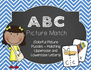 ABC Picture Match {Uppercase & Lowercase Letters}