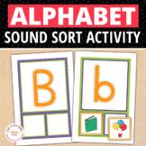 ABC Initial Sound Sorting Cards:  Alphabet Beginning Sound