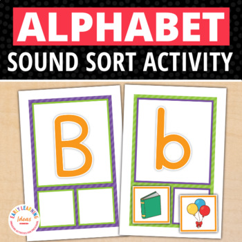 ABC Initial Sound Sorting Cards:  Alphabet Beginning Sound