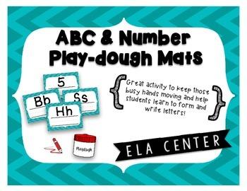ABC & Number Play-Dough Mats
