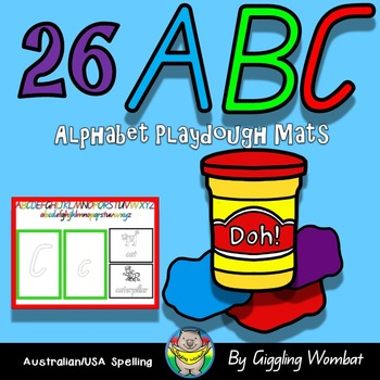 Alphabet ABC Play Dough Mats