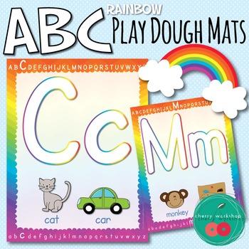 Playdough Letter Mats