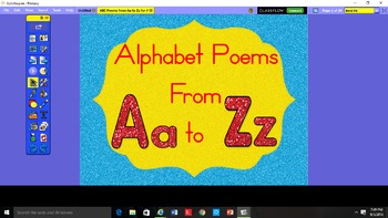 ABC Poems from Aa to Zz for Activboard