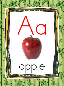 Alphabet Poster Wall Cards Border Jungle Print