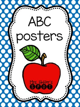 ABC Posters {Blue Polka Dots}