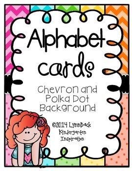 ABC Posters {Chevron and Polka Dots}