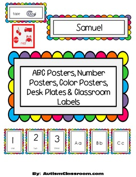 ABC Posters, Number Posters, Color Posters, Desk Plates &