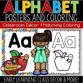 Alphabet Posters and Coloring Pages