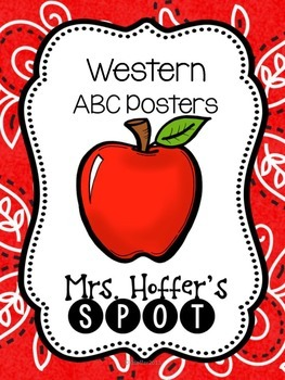ABC Posters with Pictures {Western and Fancy Font}