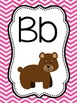 ABC Posters with Zoo Animals {Chevron)