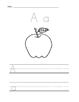 ABC Writing Practice  Activity