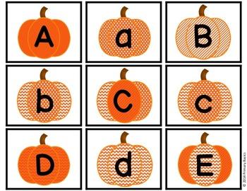 ABC Pumpkin Letter Match