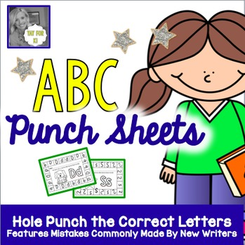ABC Punch Sheets:  Find the Messed Up Letters