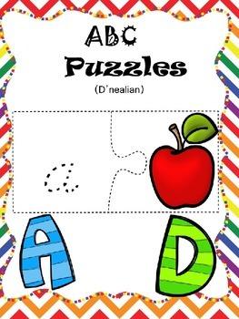 ABC Puzzles (D'nealian Edition)