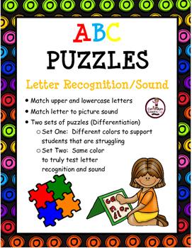ABC Puzzles:  Letter Recognition and Sounds (2 Sets)