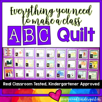 Alphabet Quilt or Class Book!  Fun for Learning Letters &