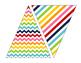 ABC Rainbow Bright Printable Banner Stripes, Chevrons, and