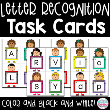 Task Cards--Alphabet Recognition Scoot game!