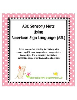 American Sign Language - ABC Sendory Mats using ASL Finger
