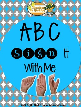 ABC Sign It With Me - Songbook Mp3 Digital Download