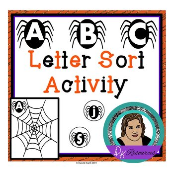 ABC Spider Sort - Letter Recognition Center and File Folde
