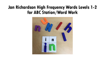 ABC Station/Word Word Jan Richardson High Frequency Words