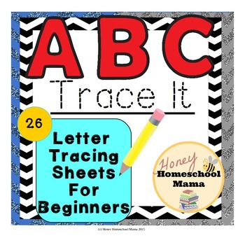 ABC Trace It Mixed Case - Sheets for Students Learning to