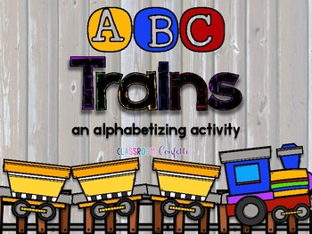 ABC Trains (Alphabetizing)