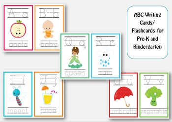 ABC Write and Erase Cards / Flashcards for Pre-k and Kindergarten
